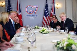Trump critica a la prensa por hablar de división en el seno del G7