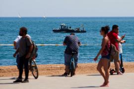 La Armada detonará la bomba hallada en una playa de Barcelona