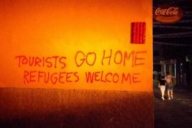Reaparecen las pintadas antiturísticas y contra la especulación en Palma
