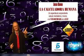 La calculadora humana, José Bono, ofrece un espectáculo en La Movida junto a Manuel Bornes