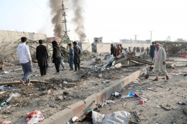 Los talibán detonan un tractor cargado de explosivos en la zona de embajadas extranjeras de Kabul