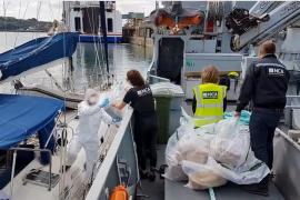 Interceptan en Gales un velero con mil kilos de cocaína adquirido en Mallorca