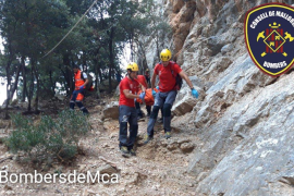 Rescatada una escaladora tras una caída en el Gorg Blau