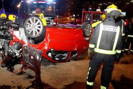 Un conductor borracho sufre un accidente en el Marítim de Palma tras una persecución