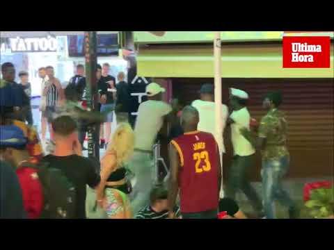Violenta pelea multitudinaria en Punta Ballena
