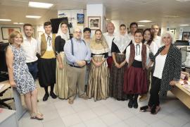 Los 'vermadors' de Binissalem visitan el Grup Serra