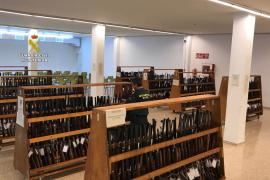 La Guardia Civil de Baleares subastará 835 armas