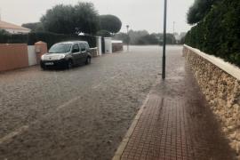 Las fuertes lluvias provocan inundaciones en Menorca