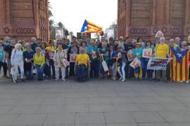 Representación mallorquina en la Diada de Cataluña