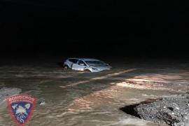 Un fallecido en Almería al quedar su coche atrapado por las intensas lluvias