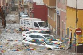 LLuvias en Santa Pola