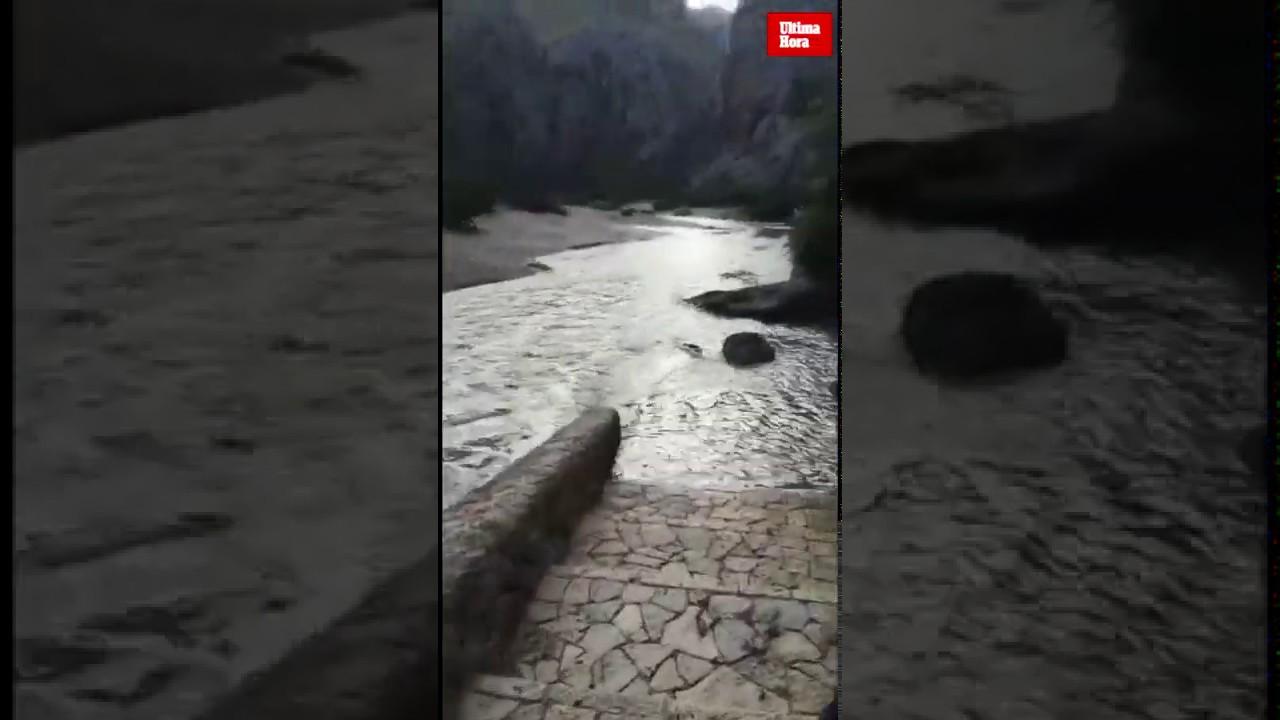 La Font Salada del Torrent de Pareis, tras las fuertes lluvias