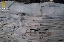 Interceptado un camión con 127 kilos de cocaína escondidos entre pieles