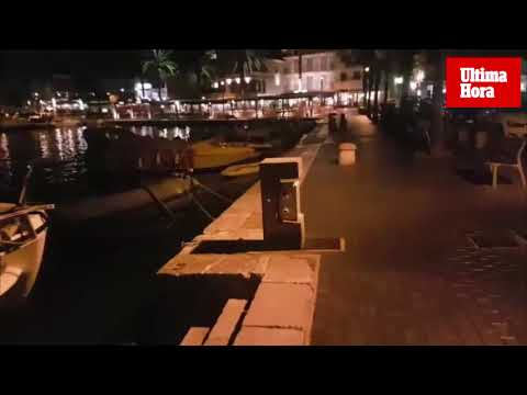 Tormenta eléctrica en la noche de Mallorca