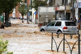 La lluvia causa inundaciones y cortes de Metro y carreteras en Madrid