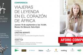 'Viajeras de leyenda en el corazón de África', una conferencia de Cristina Morató en Palma