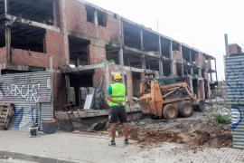 Las obras del edificio de es Viver, en imágenes (Fotos: Daniel Espinosa).