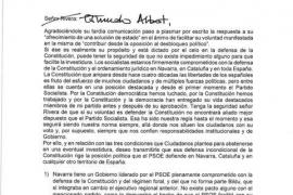 Sánchez tacha el trato protocolario de su carta a Rivera y escribe a mano 'Estimado Albert'