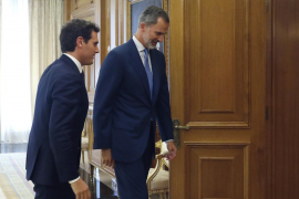 El rey Felipe VI recibe en audiencia a Albert Rivera