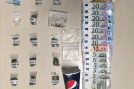 Detenidas tres personas en Playa de Palma por tráfico de drogas
