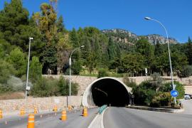 Cerrarán cinco noches el túnel en sentido Sóller por obras de mantenimiento