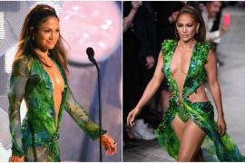 Jennifer López, deslumbrante con el mismo vestido que se puso hace 20 años