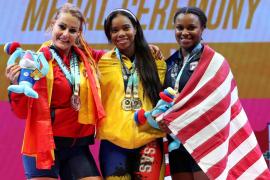 Lydia Valentín, plata y bronce en el Mundial de halterofilia