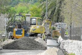 El Consell cierra la carretera de Selva a Biniamar por el hundimiento de la calzada