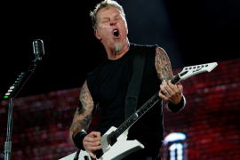 James Hetfield vocalista y guitarrista de Metallica