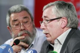 Toxo y Méndez hablan de «éxito» y el Gobierno de «impacto moderado»