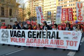 Clamor en Palma contra la reforma laboral