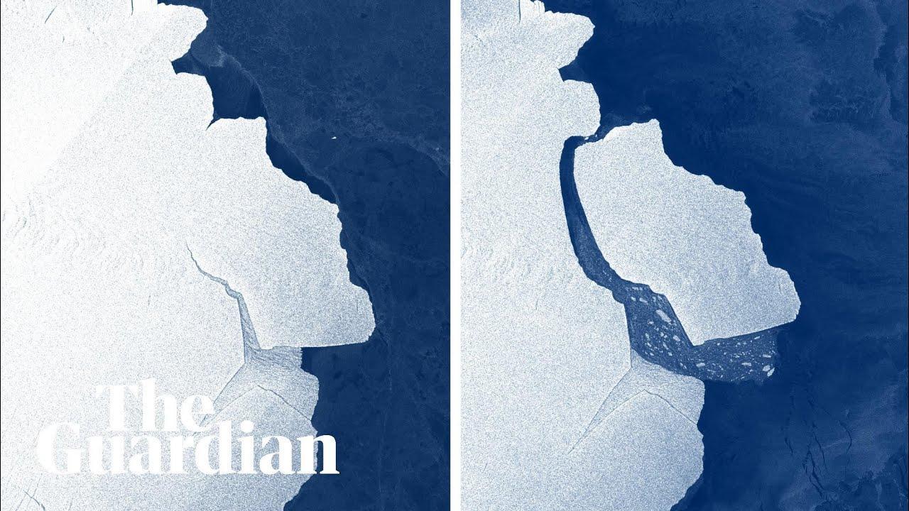 Un iceberg más grande que Menorca se desprende de la Antártida