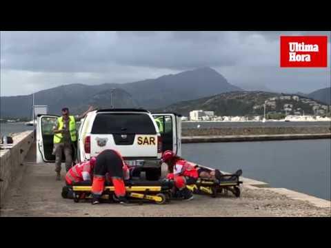 Simulacro de rescate de un avión civil hundido en Pollença