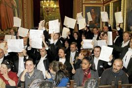 La Simfònica protesta en el pleno de Cort por el recorte de su presupuesto