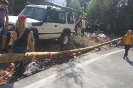 Accidente en la Pujada al Puig Major