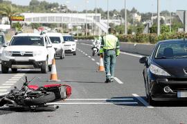 El 47 por ciento de los fallecidos en carreteras de Baleares son motoristas