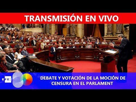 Así ha sido el debate y la votación de la moción de censura de Cs contra Torra