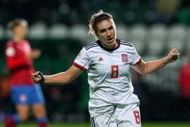 España golea y se acerca a la Eurocopa Femenina