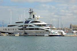El megayate 'Palladium', un asiduo del Club de Mar de Palma