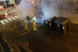 Nuevo incendio de contenedores en Palma
