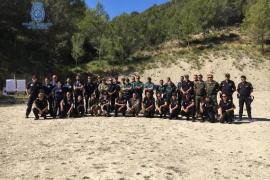 Más de 90 profesionales participan en la competición de tiro policial de la Policía Nacional