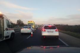 Grandes colas por un choque en cadena en la autopista de Llucmajor