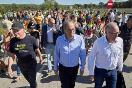 Torra apoya las manifestaciones: «Este presidente está al lado de la gente»