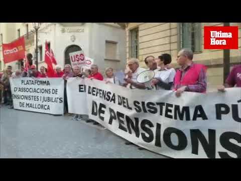 Unas 200 personas se movilizan en Palma para reivindicar pensiones públicas «dignas»