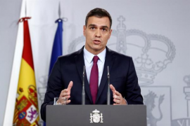 Sánchez exige a Torra que condene «sin excusas» el uso de la violencia y deje de ocultarse «tras cortinas de fuego»