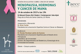 Es Baluard acoge la sesión divulgativa 'Menopausia, hormonas y cáncer de mama'