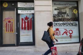 Aparecen nuevas pintadas independentistas en Palma