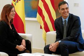Pedro Sánchez se reune con la presidenta de Baleares