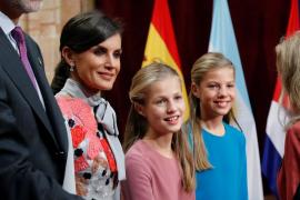 La princesa, «menos nerviosa de lo que esperaba» ante su primer discurso