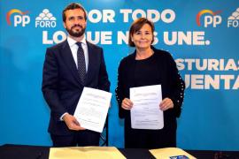 Casado resalta la coalición PP-Foro y confía en que los españoles sumen